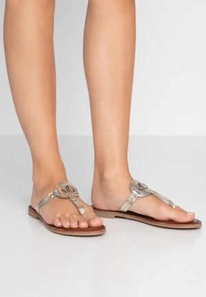 T-bar sandals - champagne