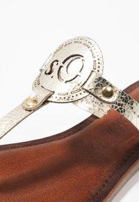 s.Oliver - T-bar sandals - champagne - 2