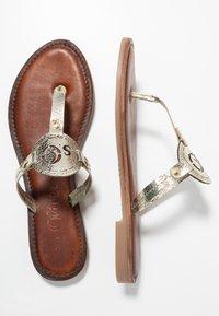 s.Oliver - T-bar sandals - champagne - 3