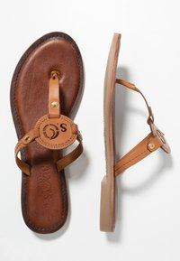 s.Oliver - Sandály s odděleným palcem - cognac - 3