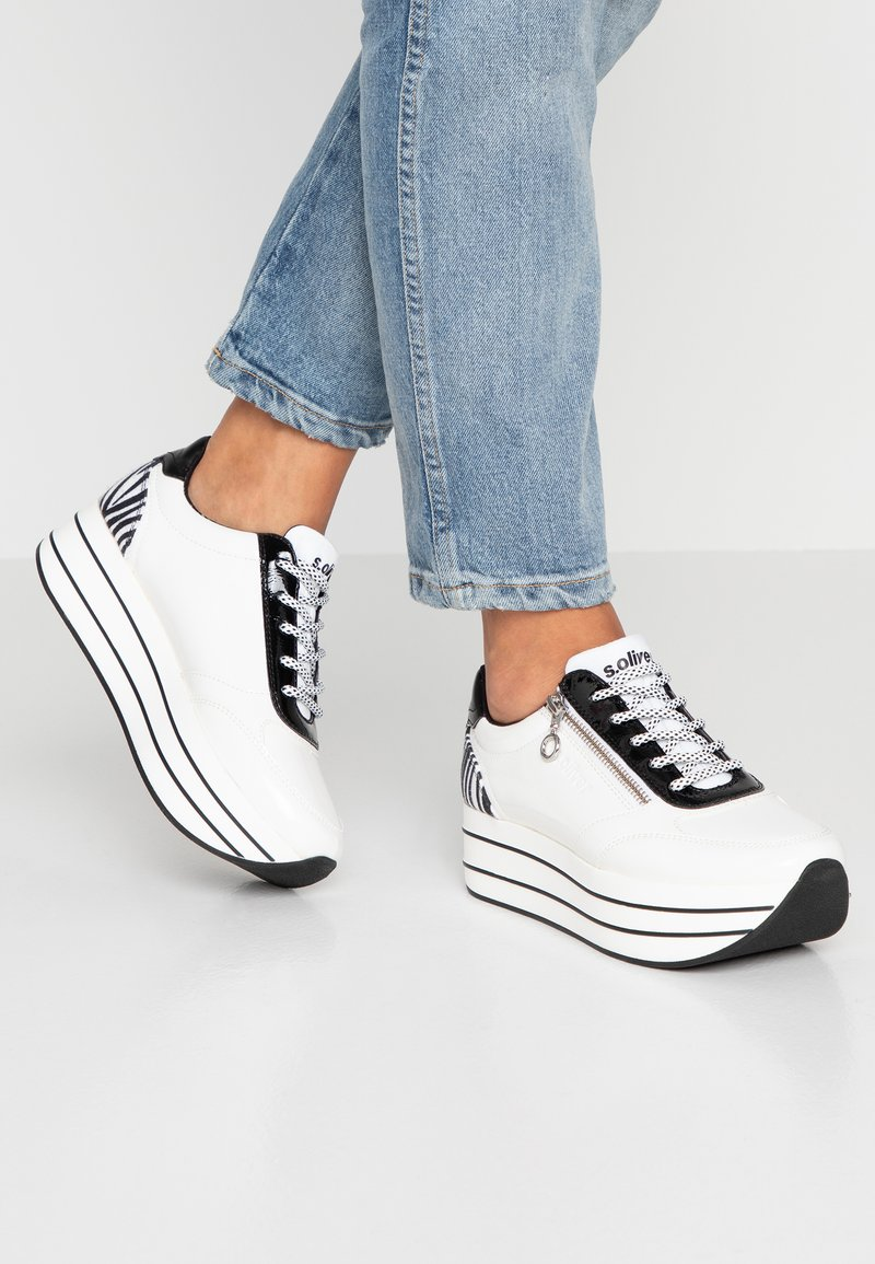 s.Oliver - Trainers - white/black