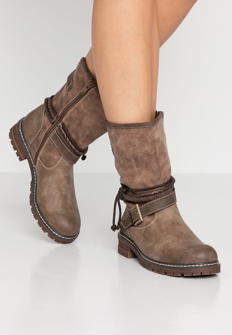 s.Oliver - Cowboy-/Bikerboot - taupe