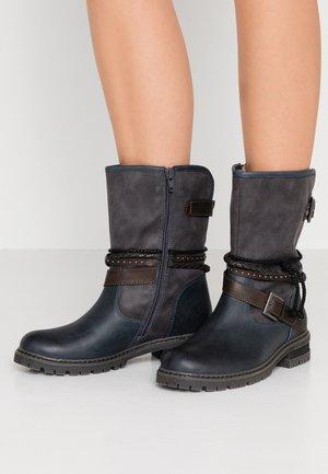 Cowboy/Biker boots - navy
