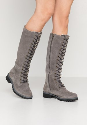 BOOTS - Lace-up boots - grey