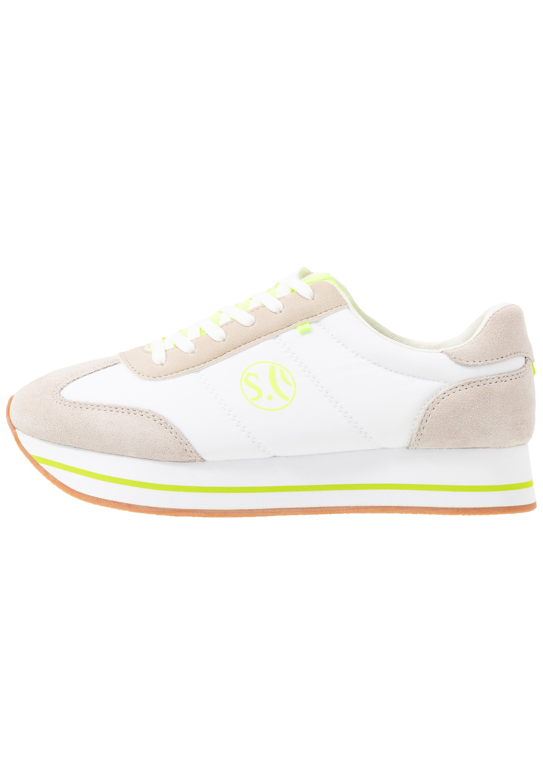 s.Oliver Sneakersy niskie - white/yellow