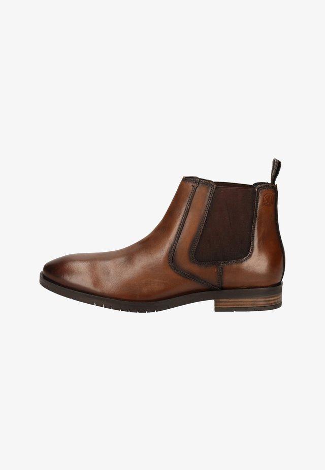 Korte laarzen - cognac leather