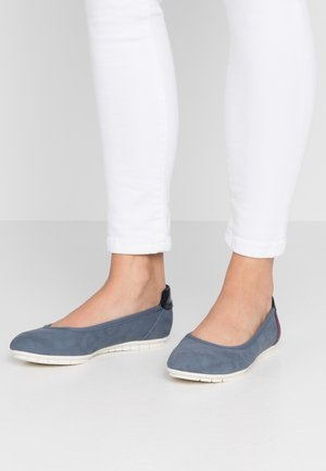 Ballet pumps - dusty blue