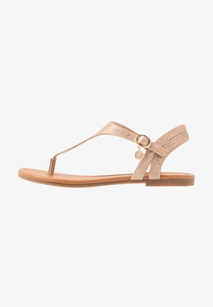 Flip Flops - rose gold metallic