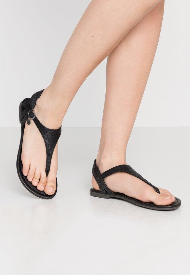 Sandály s odděleným palcem - black metallic