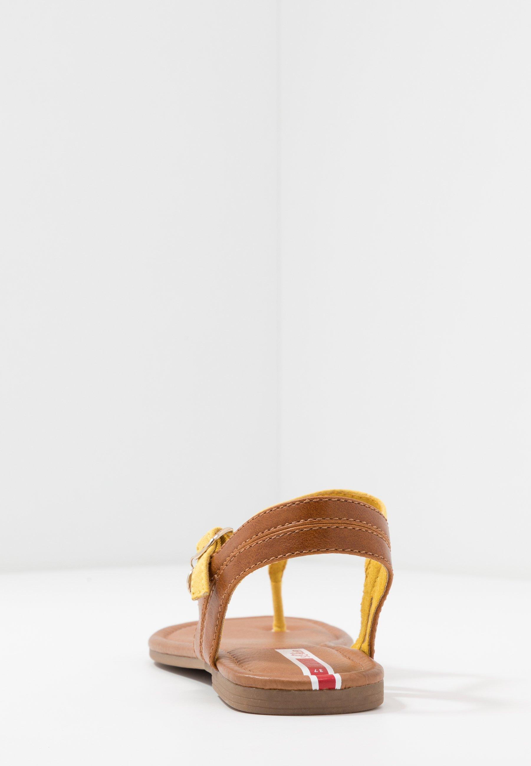 s.Oliver Japonki - yellow/cognac