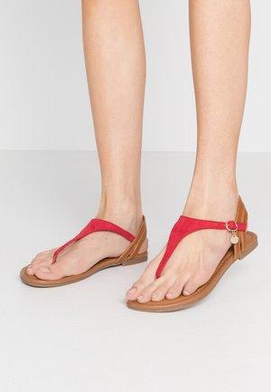 Flip Flops - red/cognac