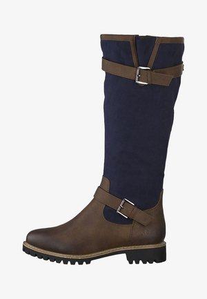 Bottes - brown/blue