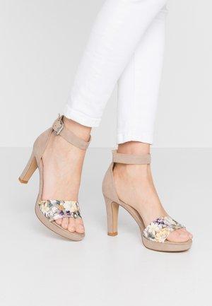 Sandalen met hoge hak - taupe
