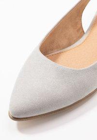 s.Oliver - Slingback ballet pumps - light grey - 2