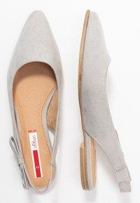 s.Oliver - Slingback ballet pumps - light grey - 3