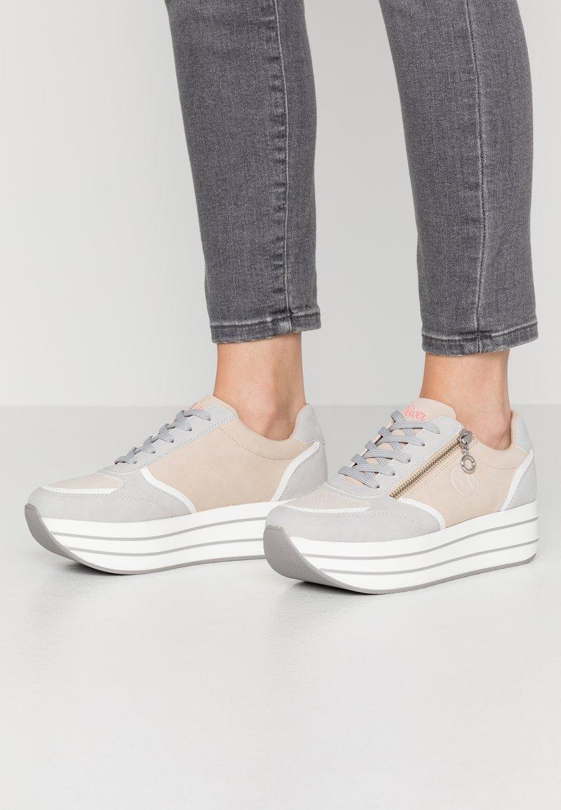 s.Oliver - Trainers - light grey/light rose