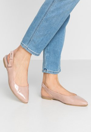 Slingback ballet pumps - rose