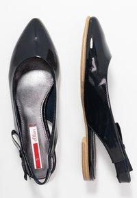 s.Oliver - Slingback ballet pumps - navy - 3