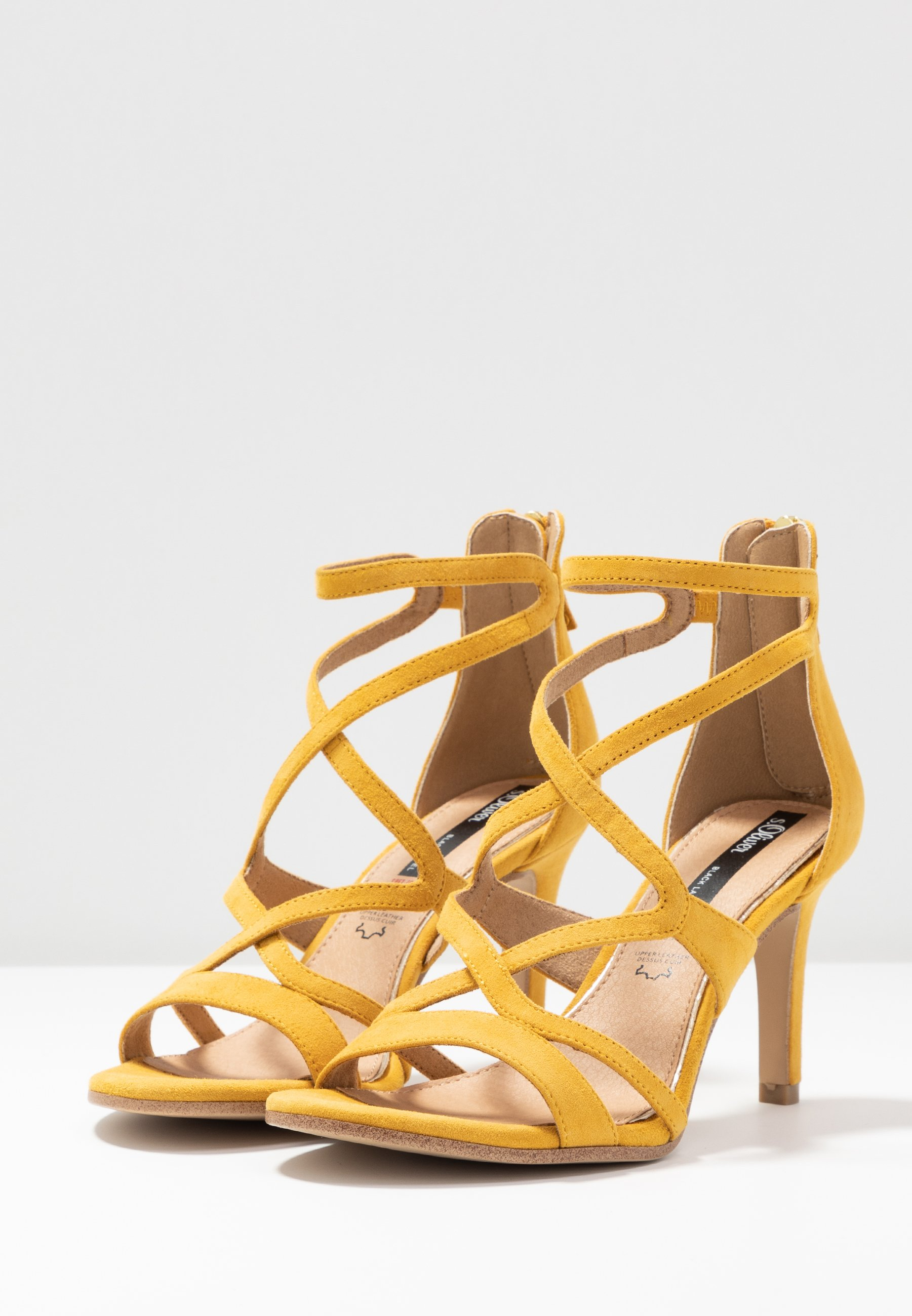 S.oliver Black Label Sandales À Talons Hauts - Yellow