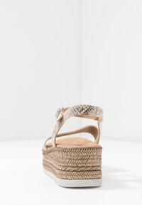 s.Oliver - Platform sandals - grey/beige - 5