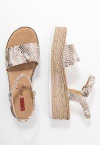 s.Oliver - Platform sandals - grey/beige - 3
