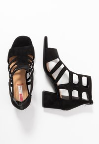s.Oliver - Ankle cuff sandals - black - 3