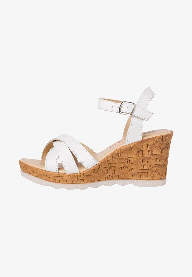 High Heel Sandalette - white