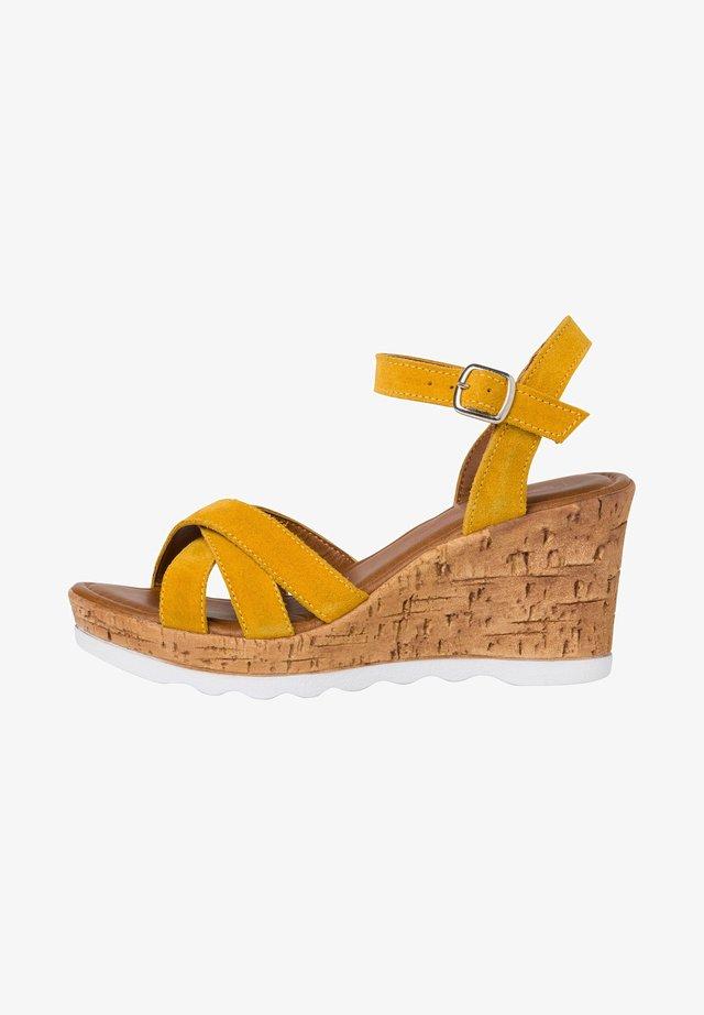 Højhælede sandaletter / Højhælede sandaler - sun