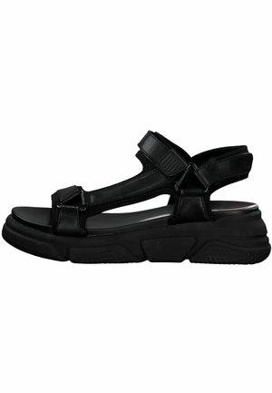 S.OLIVER - Korkeakorkoiset sandaalit - black