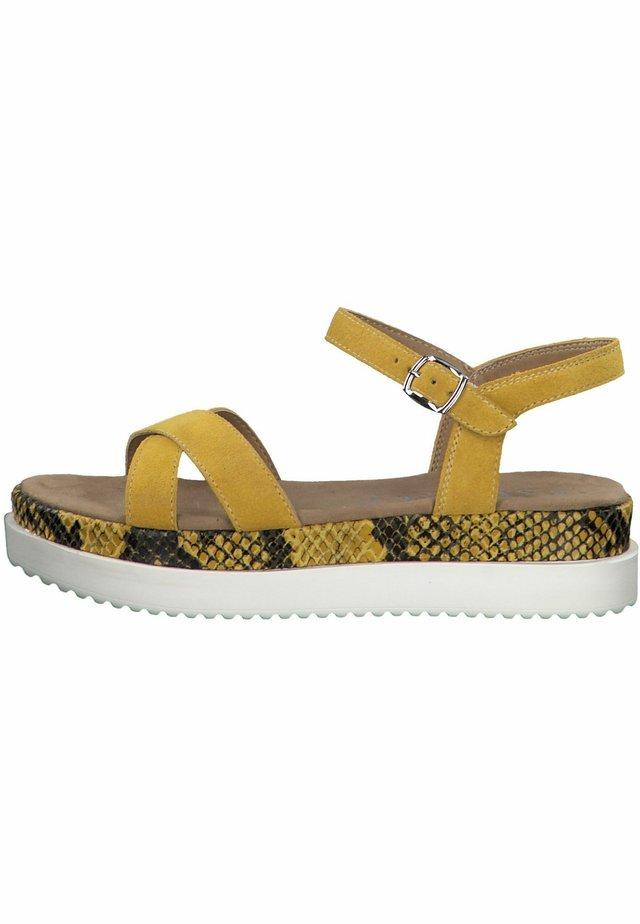 S.OLIVER  - Platform sandals - sun/snake