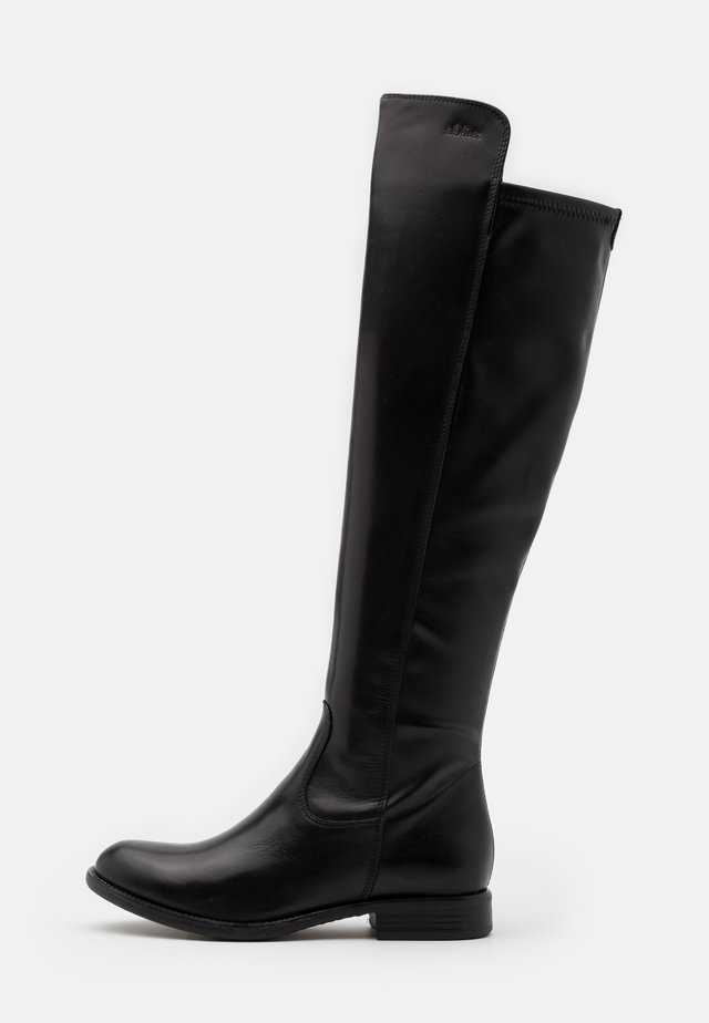 Høye støvler - black