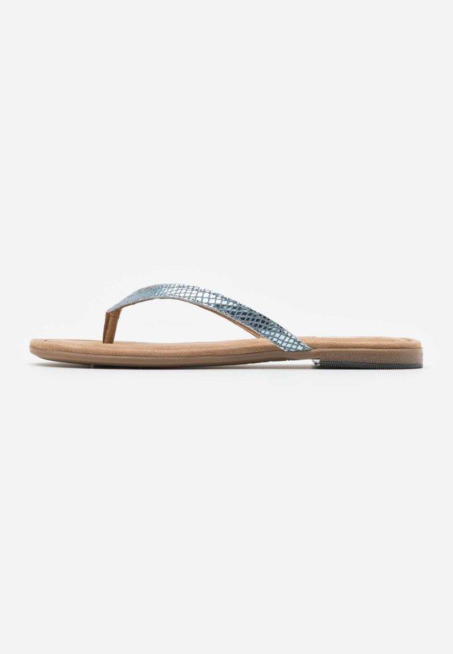 SLIDES - Sandály s odděleným palcem - aqua