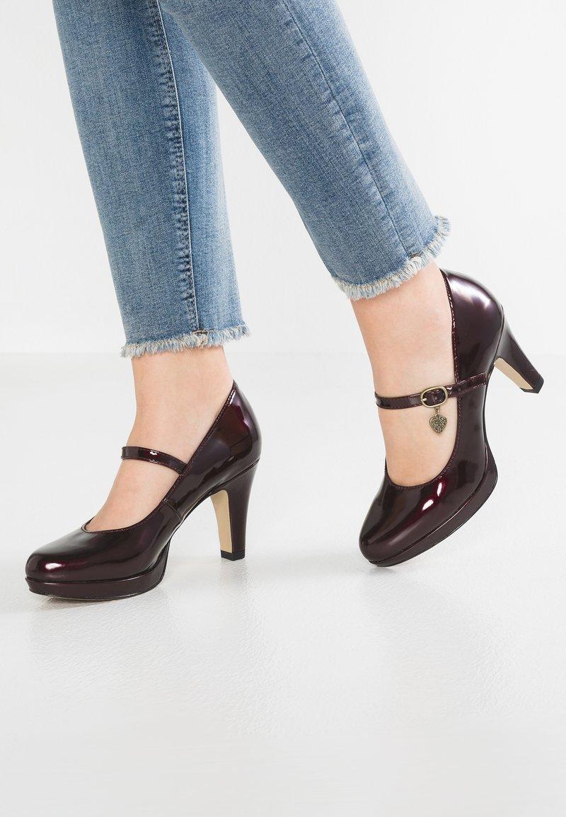 s.Oliver - Platform heels - wine