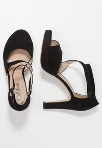 s.Oliver - High heeled sandals - black - 3