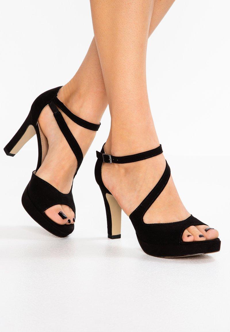 s.Oliver - High heeled sandals - black
