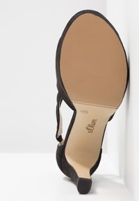 s.Oliver - High heeled sandals - black - 6
