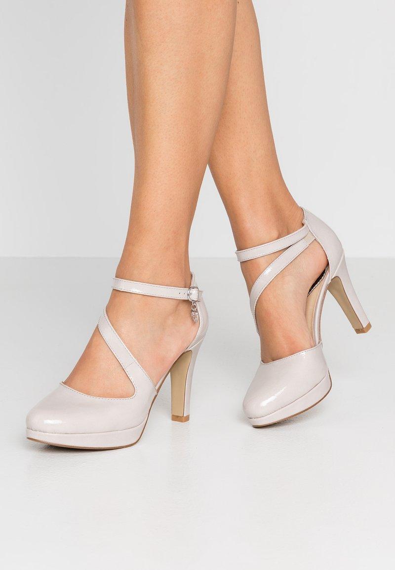 s.Oliver - Zapatos altos - light grey