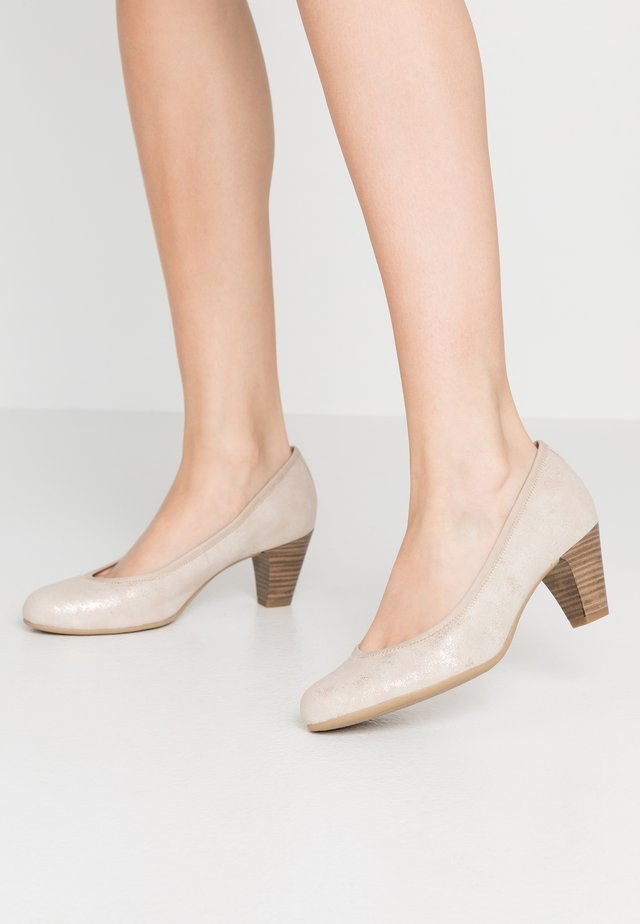 Classic heels - nude/rose glit