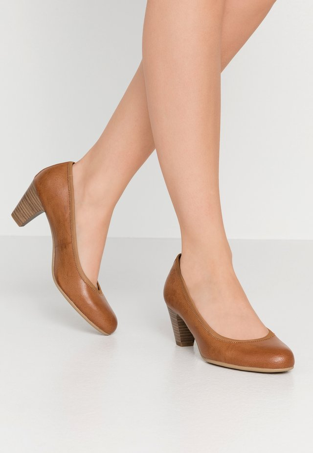 Pumps - cognac