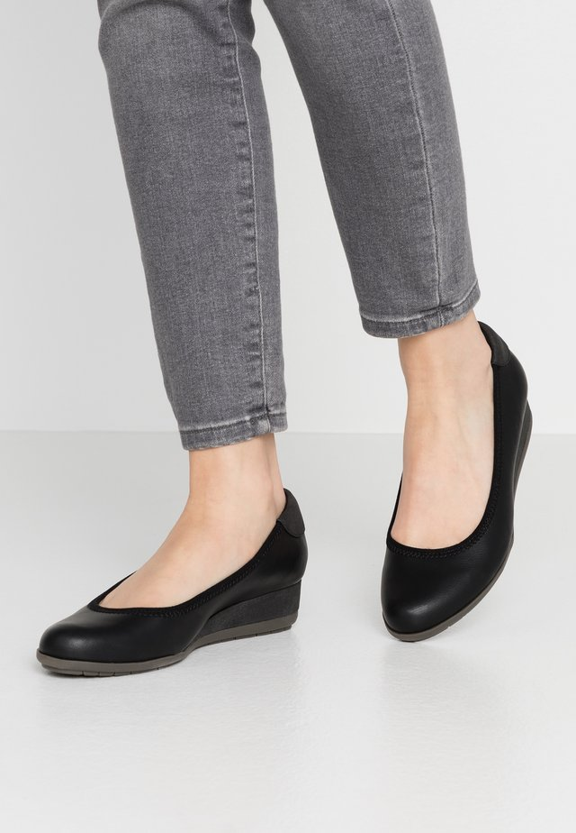 Pumps m/ kilehæl - black