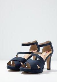 s.Oliver - Højhælede sandaletter / Højhælede sandaler - navy - 4