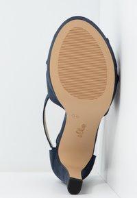 s.Oliver - Højhælede sandaletter / Højhælede sandaler - navy - 6