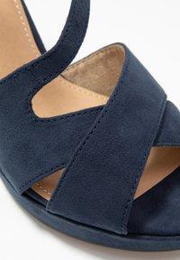 s.Oliver - Højhælede sandaletter / Højhælede sandaler - navy - 2