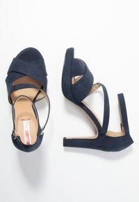 s.Oliver - Højhælede sandaletter / Højhælede sandaler - navy - 3