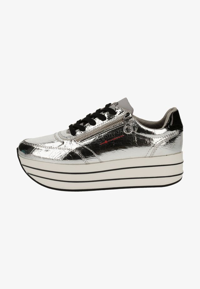 S.OLIVER SNEAKER - Sneakers laag - silver
