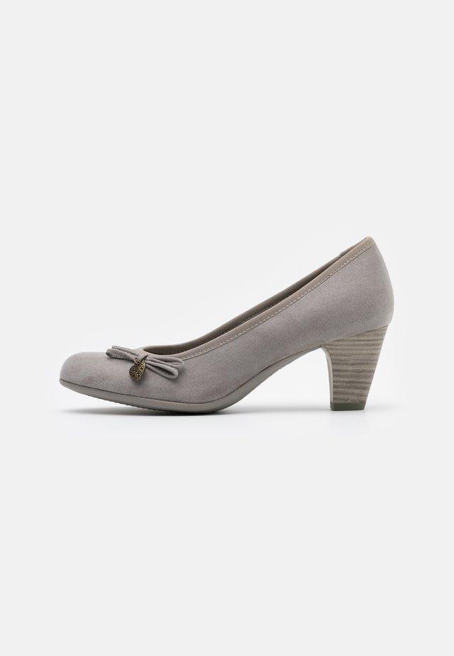 COURT SHOE - Classic heels - grey