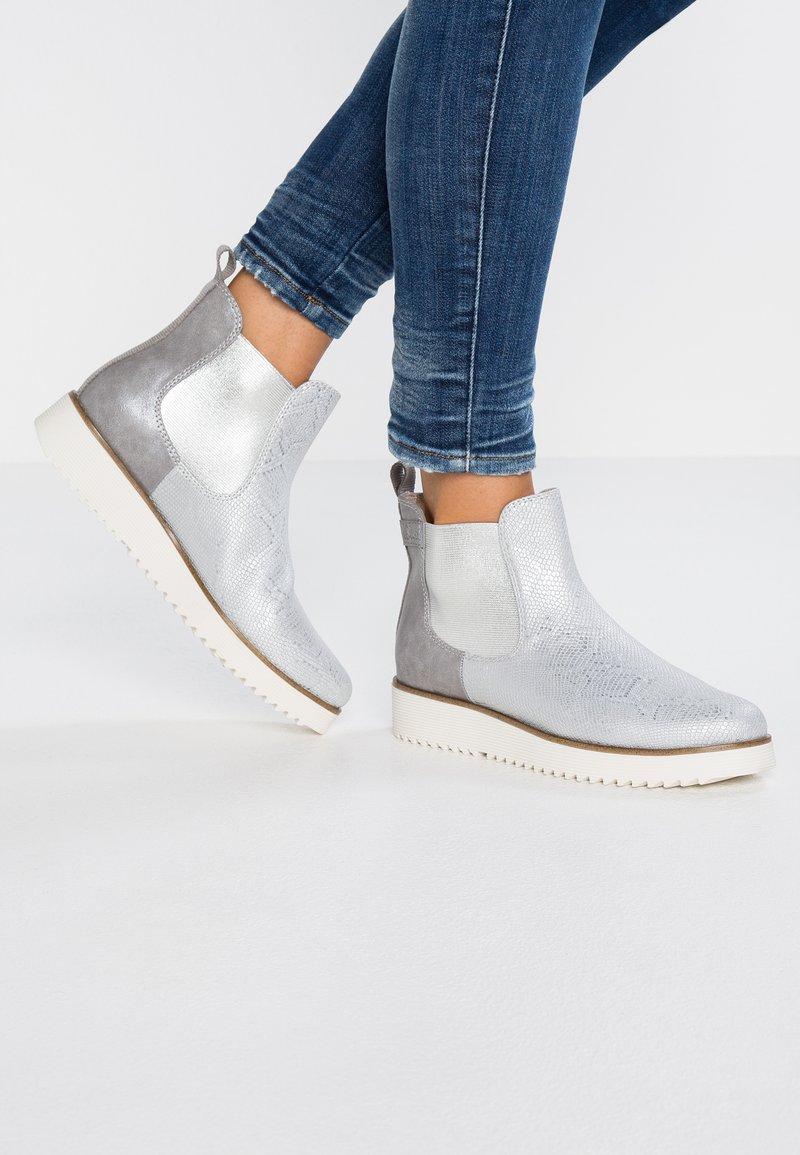 s.Oliver - Ankelstøvler - silver