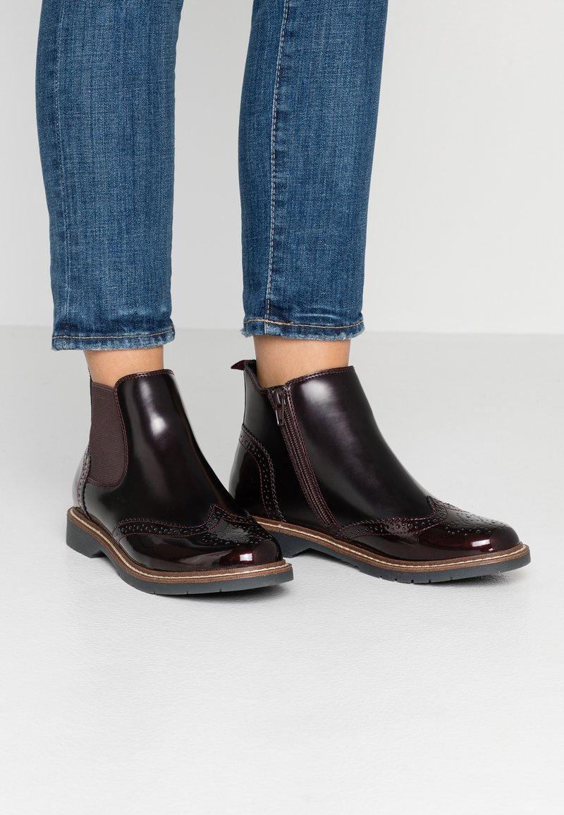 s.Oliver - Ankle boots - bordeaux