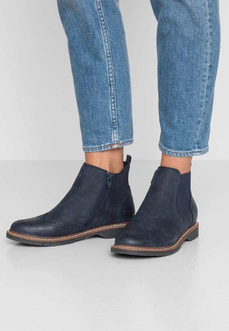 s.Oliver - Ankle Boot - navy