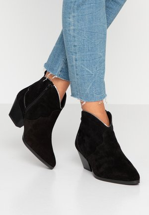 Ankle boots - black/pewter